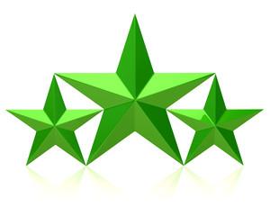 Green stars of the winners