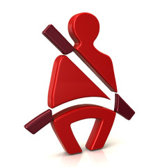 Red safety belt icon