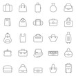 Bag line icons set.Vector - 79136170