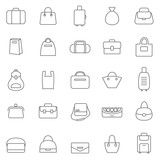 Bag line icons set.Vector