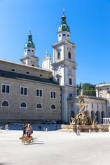Salzburger Dom, Residenzbrunnen, Residenzplatz,  Salzburg UNESCO