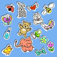 Set of Kid's Stuff Stickers