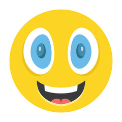 Happy emoticon vector illustration