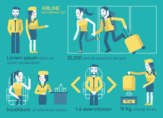 Airline infographics vector