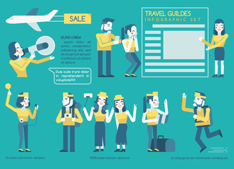 travel guides Infographics set