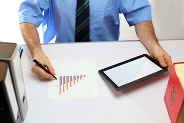 Buchhaltung mit Tabletcomputer