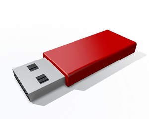 USB stick met rood omhulsel