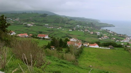 View looking north from Pont da Espalamaca in the Azores