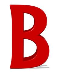 kırmızı renkli b harfi