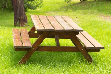 banc de jardin, pique-nique, aire de repos