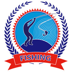 Emblem fisherman