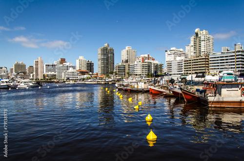 Fotobehang Stad aan het water Yachthafen in Punta del Este Uruguay