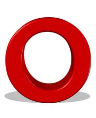 kırmızı renkli o harfi