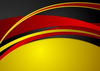 Corporate wavy abstract background. German colors
