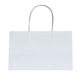 white paper bag isolated on white with clipping path