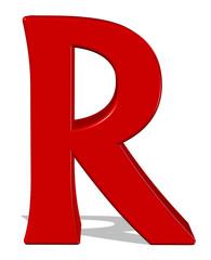 kırmızı renkli r harfi
