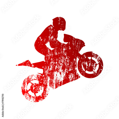 Fototapeta Abstract grungy motorcycle rider
