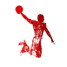 Grungy Basketball-Spieler