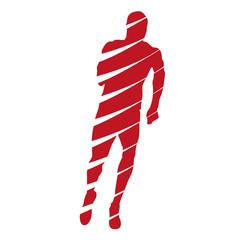 Abstract running man