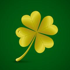 Four leaf clover. St. Patricks day symbol