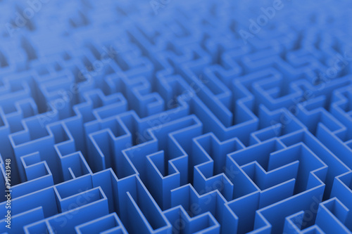 Leinwandbild Motiv Infinite maze background, business concepts.