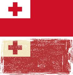 Tonga grunge flag. Vector illustration