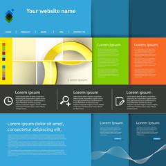 Website Template eps10 Vector Design, easy editable
