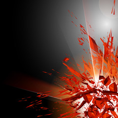 abstract explosion in night, easy editable