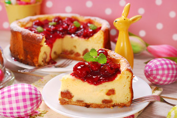 cherry cheesecake for easter
