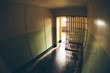 Inside of an abandoned penitentiary