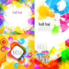 collection of holi background