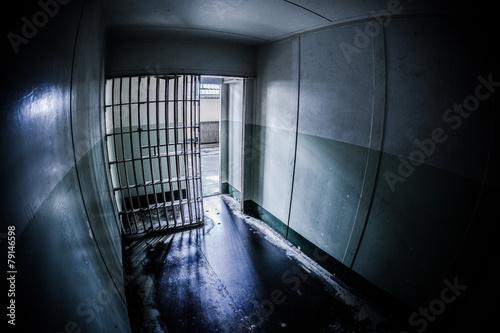 Aluminium San Francisco Inside of an abandoned penitentiary