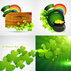 collection of st. patrick's day background