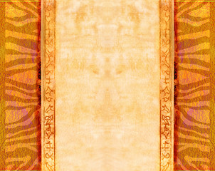 Grunge background - african traditional patterns