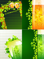 stylish collectiont of  st. patrick's  holiday background