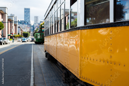 Old Cable Car in San Francisco Canvas