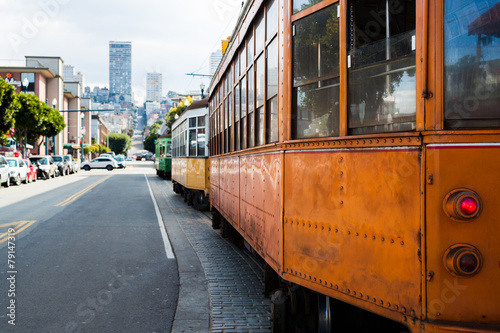 Old Cable Car in San Francisco Poster