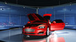 Sportwagen im Showroom