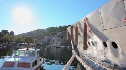 Harbor on island Sipan, Dubrovnik archipelago