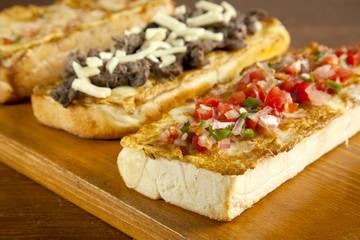 Delicious salsa open faced sandwiches