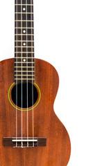 ukulele on white background