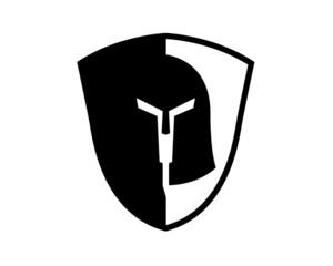 gladiator helmet shield black