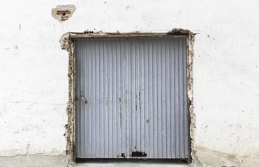 Broken door metal
