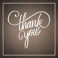 Thank you in cursive script vector