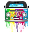 Hippie Van Dripping Rainbow Paint - 79149362