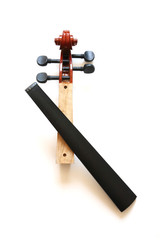 neck and fingerboard of crack violin