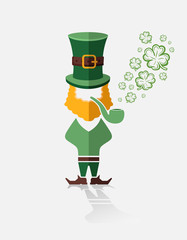 St patricks day vector with leprechaun