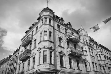 Torun, Poland. Black and white.