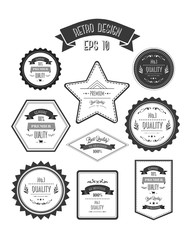 Retro style quality stamps vector