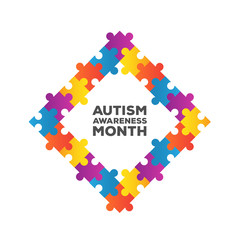 Autism awareness design vector